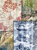 toile fabric - Chinoiserie
