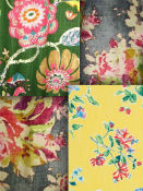 Floral drapery fabric & Floral upholstery fabric by the yard.