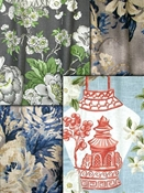 Floral Drapery / Curtain fabric
