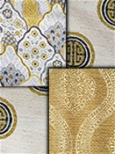 Gold Medallion Fabrics