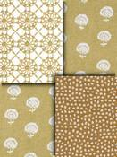 Gold Small Scale Fabric