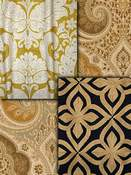 Gold Medallion Fabric