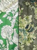 Green Floral Fabric