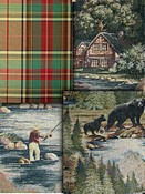 Green Southwest Lodge Fabrics