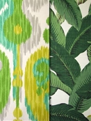 Green & Citrus Yellow Outdoor Fabrics
