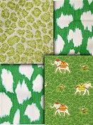 Green Animal Fabric