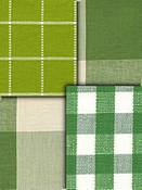 Green Buffalo plaid Check fabric