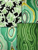 Green Retro Modern Fabric