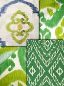 Green Ikat Fabric