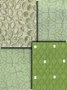 Green Matelasse Fabric