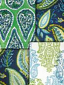 Green Paisley Fabric