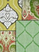 Green Medallion Fabric