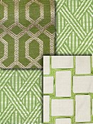 Green Trellis Fabric