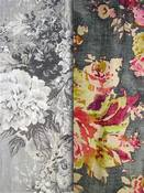 Grey Floral Fabric