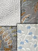 Grey Leaf Fabric