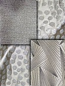 Grey Metallic Fabric