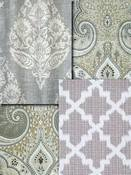 Grey Medallion Fabric