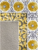 Duralee Suburban Home Fabric Grey & Yellow