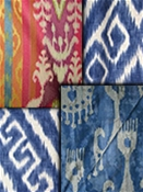 Ikat drapery fabric by the yard