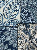 Indigo Blue Paisley Fabric