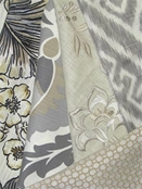 Jaclyn Smith Grey & Natural Fabric