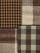 Brown check fabric