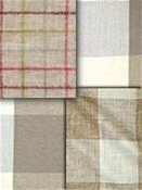 Natural Khaki Check Fabric