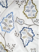 Embroidered Sheer Drapery Fabric