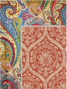 Paisley & Medallion Linen Fabric