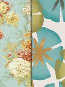 Spa Blue Floral Fabric