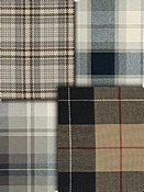 Black & Natural Plaid Fabric