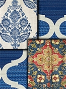 Navy Blue Medallion Fabrics
