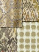 Neutral Ikat Fabrics