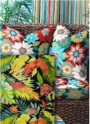 Black Multi Color Outdoor Fabric
