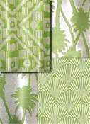 green outdoor fabric
