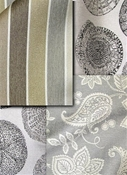 taupe and grey outdoor fabric