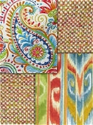 Bright multi color Outdoor Fabrics
