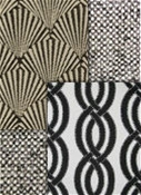 Black and white Outdoor Fabric