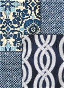 Navy outdoor fabric collection - Solids, Stripes, Tropicals, Geometrics
