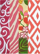 More Pink & Orange Outdoor Fabric