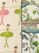 Children's room fabric by the yard