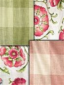 Pink and green fabric by the yard