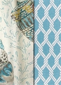 Coastal fabrics by the yard