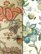 jacobean floral fabric by the yard