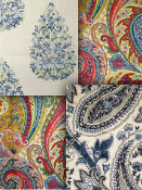Paisley Fabric - by the yard