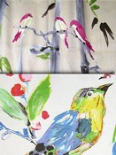 Pastel Berry Bird Fabric