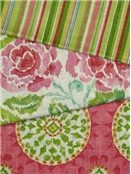 Pink and Green Fabric