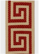 Red Greek Key Tape 825-415