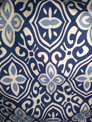 alhambra handprint indigo laura kiran fabric decorator fabric rooms - Decorator Fabric