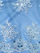 Embroidered Lace Alley Blue